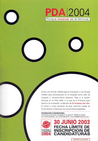 PDA 2004 Porque innovar