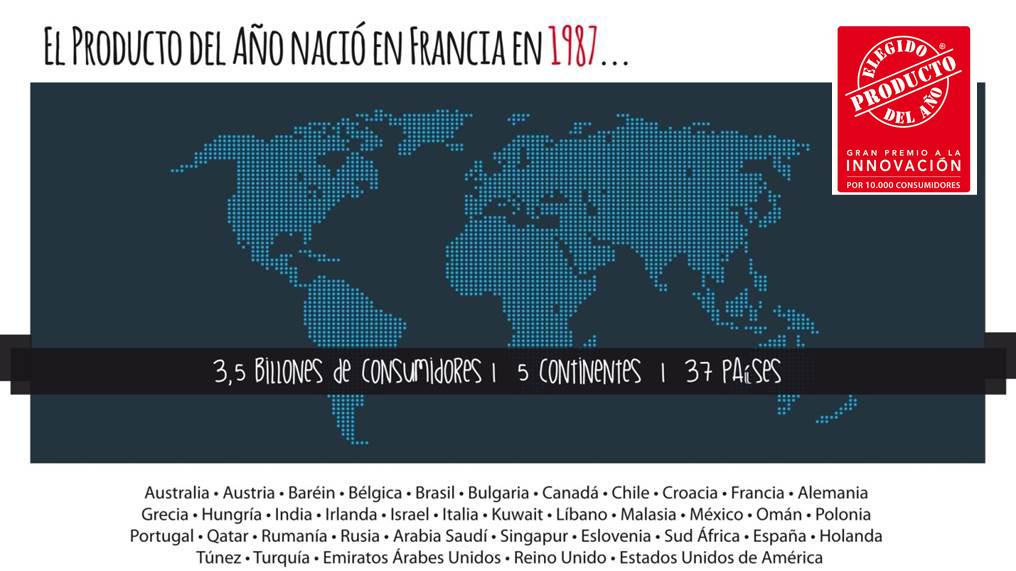 Producto del Año amplia su red internacional y llega a Chile